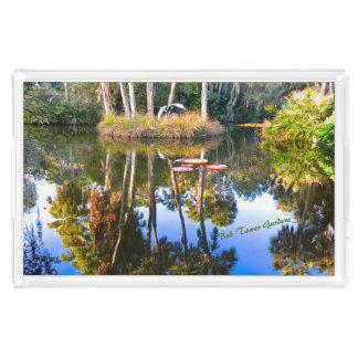 Plateau En Acrylique Réflexions : Paumes dans les jardins de tour de