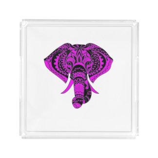 Plateau En Acrylique Style de pourpre d'éléphant