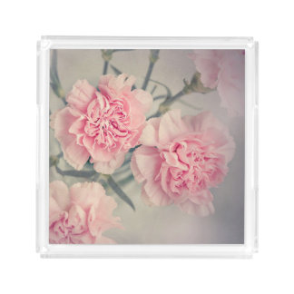 PLATEAU EN ACRYLIQUE TRAY WITH ROSES