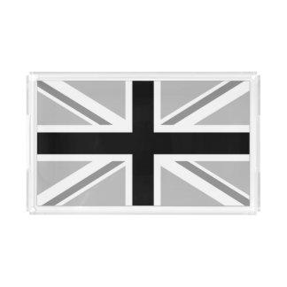 Plateau En Acrylique Union Jack monochrome/drapeau