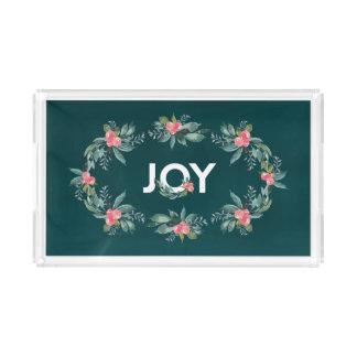 Plateau floral de vacances de joie