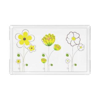 Plateau jaune de fleur d'aquarelle