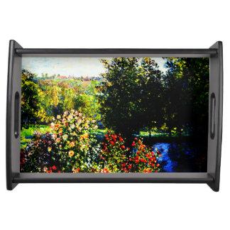Plateau Monet-Roses de Claude dans le jardin chez