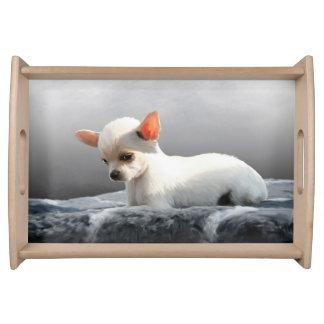 Plateau Peinture se reposante d'art de portrait de chien