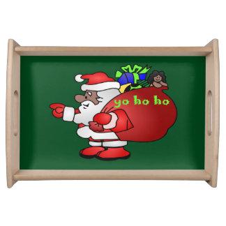 Plateau Père Noël noir Yo Ho Ho Ho BSYHH