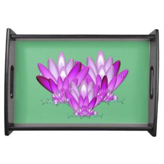 Plateau Rose de fleur de Lotus sur l'arrière - plan de