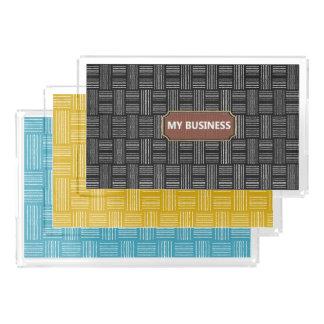 Plateaux de portion de lignes jaune, noir ou bleu