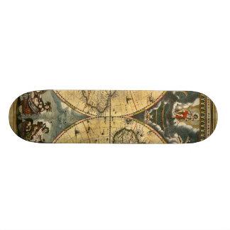 Plateaux De Skate Carte antique J. Blaeu 1664 du monde