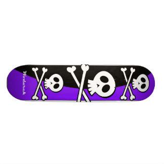 Plateaux De Skate Conception de planche à roulettes de crâne