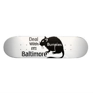 """Plateaux De Skate Les rats de """"lapins"""" de Baltimore traitent lui !"""
