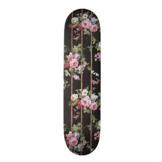 Plateaux De Skate Motif rose de rayures d'or de faux rose vintage de