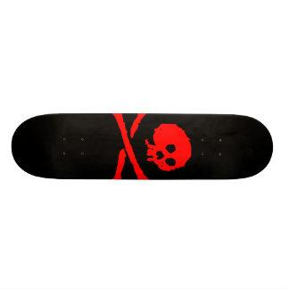 Plateaux De Skate Planche à roulettes de crâne de pirate