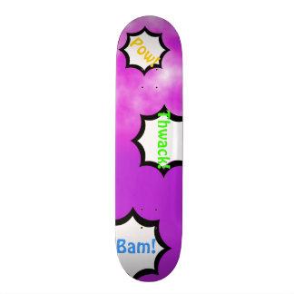 Plateaux De Skate Plate-forme personnalisable de ciel rose pourpre