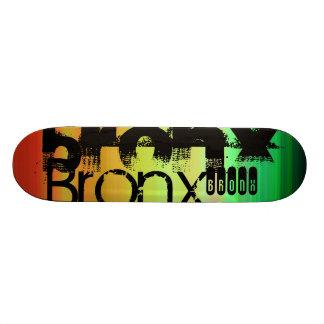 Plateaux De Skateboards Customisés Bronx ; Vert, orange vibrants, et jaune