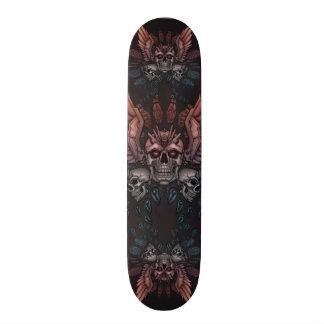 Plateaux De Skateboards Customisés Crâne de robot + Ailes