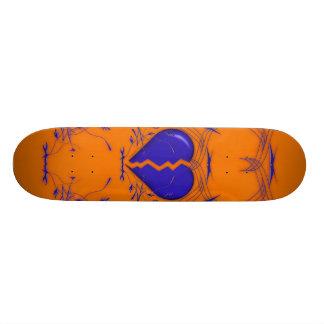 Plateaux De Skateboards Customisés Le coeur brisé/planche à roulettes tribale (orange