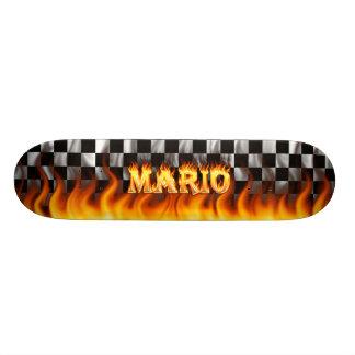 Plateaux De Skateboards Customisés Le feu de planche à roulettes de Mario et