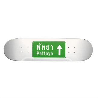 Plateaux De Skateboards Customisés ⚠ thaïlandais de poteau de signalisation de route