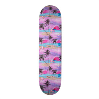 Plateaux De Skateboards Customisés Tropical