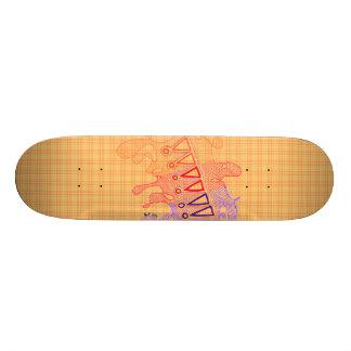 Plateaux De Skateboards Le rouge gribouille la planche à roulettes