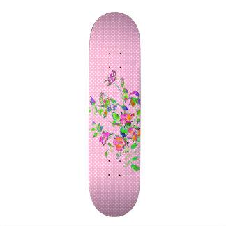 Plateaux De Skateboards Pois vintage de rose de rose