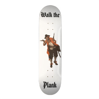Plateaux De Skateboards Promenade vintage d'arme à feu de pirate la