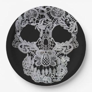 Plats de crâne assiettes en papier