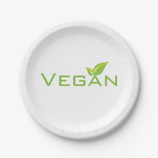 Plats végétaliens assiettes en papier