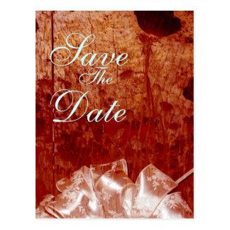 Plattelander Gebrande Houten huwelijksaankondiging Briefkaart
