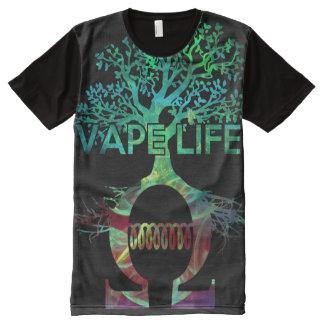Pleine chemise de la vie de Vape d'impression de T-shirt Tout Imprimé