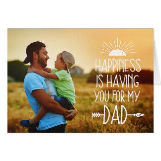 Pleine fête des pères de photo du bonheur   carte