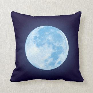 Pleine lune bleue coussin
