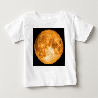 pleine lune orange t-shirt pour bébé