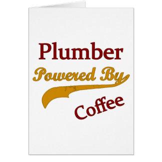 Plombier actionné par le café carte