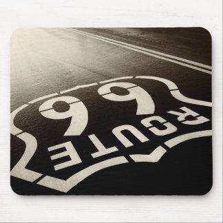 Pluie et itinéraire 66 tapis de souris