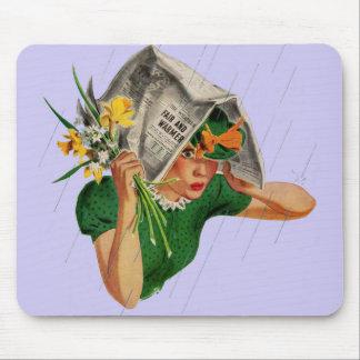 pluie pas dans la prévision tapis de souris