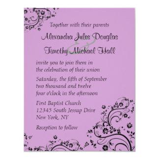 Pluk een het huwelijksuitnodiging van kleuren 10,8x13,9 uitnodiging kaart