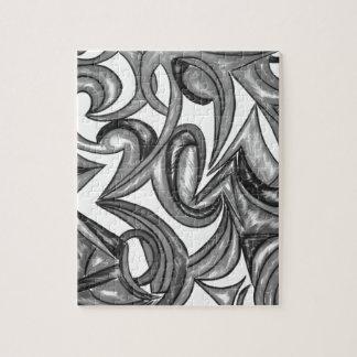 Plumage de paon - art abstrait peint à la main puzzle