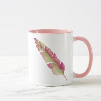 Plume, rose et vert - tasse