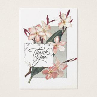 Plumeria rose vintage de Merci de référence Cartes De Visite