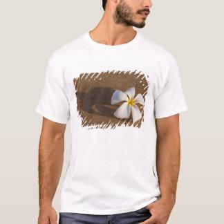 Plumeria sur la plage sablonneuse, Maui, Hawaï, T-shirt