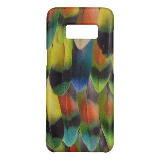Plumes de queue colorées de perruche coque Case-Mate samsung galaxy s8