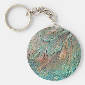 plumes exotiques porte-clé rond