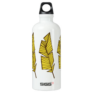 Plumes géométriques de bouteille d'eau