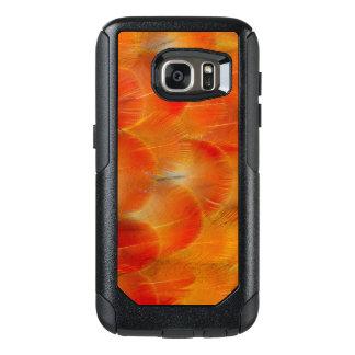 Plumes oranges d'ara de Camelot Coque OtterBox Samsung Galaxy S7