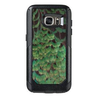 Plumes vertes de faisan de Melanistic Coque OtterBox Samsung Galaxy S7