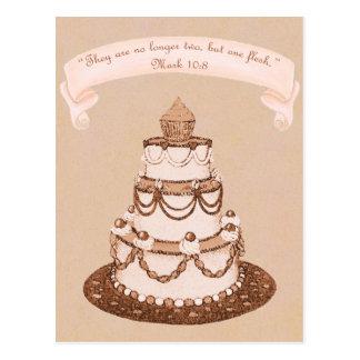 Plus écriture sainte de gâteau de Two-One Carte Postale