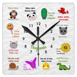 Plus tard, horloge murale de rime d'alligator