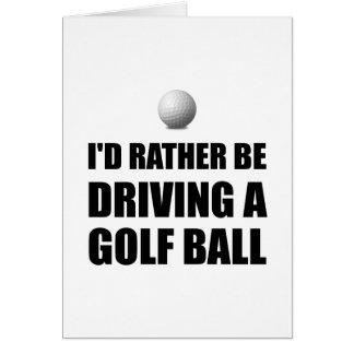 Plutôt conduise des boules de golf carte de vœux