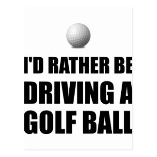 Plutôt conduise des boules de golf carte postale